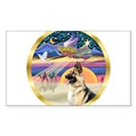 XmasStar/ German Shepherd Sticker (Rectangle)