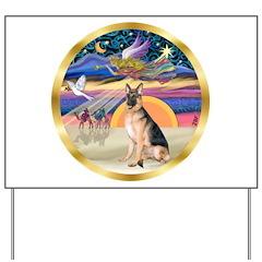XmasStar/ German Shepherd Yard Sign