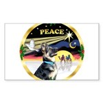 XmasDove/ German Shepherd Sticker (Rectangle 10 pk
