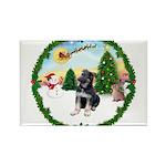 Take Off1/German Shepherd pup Rectangle Magnet (10