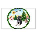 Take Off1/German Shepherd pup Sticker (Rectangle)