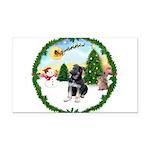 Take Off1/German Shepherd pup Rectangle Car Magnet
