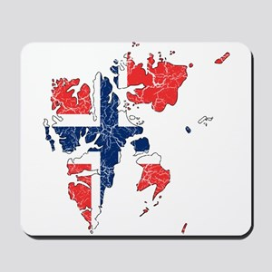 Norway Flag And Map Mousepad