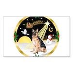 Night Flight/ German Shepherd Sticker (Rectangle 1