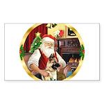 Santa's German Shepherd Sticker (Rectangle 50 pk)