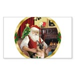Santa's German Shepherd Sticker (Rectangle 10 pk)