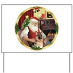 Santa's German Shepherd Yard Sign