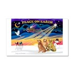 XmasSunrise/3 Goldens Car Magnet 20 x 12