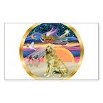 XmasStar/Golden #1 Sticker (Rectangle)