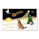 Night Flight/Golden 12 Sticker (Rectangle 50 pk)