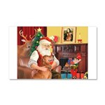 Santa's Golden (#3) Car Magnet 20 x 12
