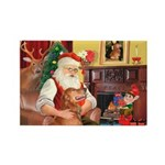 Santa's Golden (#3) Rectangle Magnet (10 pack)