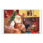 Santa's Golden (#3) Sticker (Rectangle 50 pk)