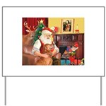 Santa's Golden (#3) Yard Sign