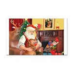 Santa's Golden (#3) Rectangle Car Magnet