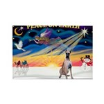 XmasSunrise/Great Dane Rectangle Magnet (10 pack)