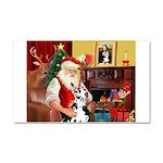 Santa's Great Dane (H) Car Magnet 20 x 12