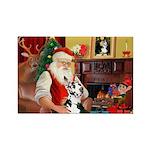 Santa's Great Dane (H) Rectangle Magnet