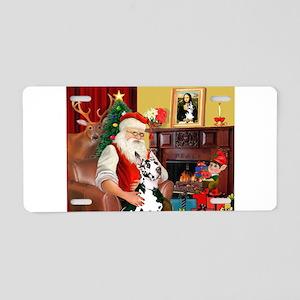 Santa's Great Dane (H) Aluminum License Plate
