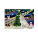Santa's Great Pyrenees Rectangle Magnet