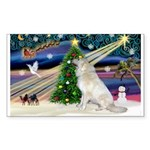 Santa's Great Pyrenees Sticker (Rectangle)