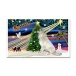 Santa's Great Pyrenees Rectangle Car Magnet