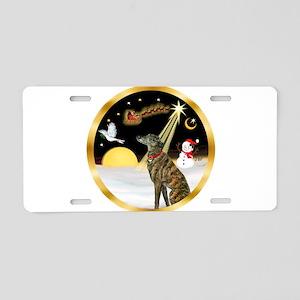 Night Flight/Greyhound (brin) Aluminum License Pla