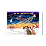 XmasSunrise/3 Greyhounds Car Magnet 20 x 12