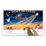 XmasSunrise/3 Greyhounds Sticker (Rectangle 50 pk)