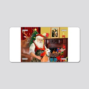 Santa's Greyhound pair Aluminum License Plate