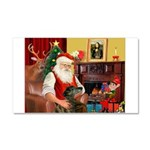 Santa's Greyhound Car Magnet 20 x 12