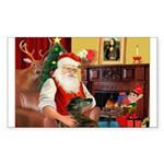 Santa's Greyhound Sticker (Rectangle 10 pk)