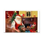 Santa's Greyhound Rectangle Car Magnet
