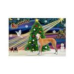 XmasMagic/Greyhound Rectangle Magnet (10 pack)