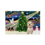 XmasMagic/Havanese pup Rectangle Magnet