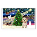 XmasMagic/Havanese pup Sticker (Rectangle)