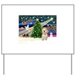 XmasMagic/Havanese pup Yard Sign