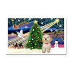 XmasMagic/Havanese pup Rectangle Car Magnet
