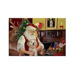 Santa's Havanese Puppy Rectangle Magnet