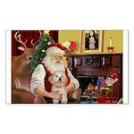 Santa's Havanese Puppy Sticker (Rectangle 50 pk)