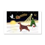 Night Flight/Irish Setter Car Magnet 20 x 12