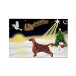 Night Flight/Irish Setter Rectangle Magnet