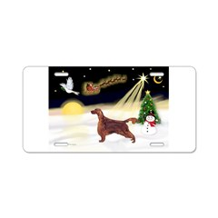 Night Flight/Irish Setter Aluminum License Plate