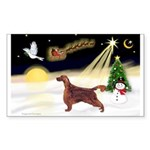 Night Flight/Irish Setter Sticker (Rectangle 50 pk