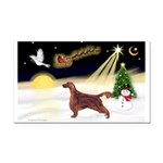 Night Flight/Irish Setter Rectangle Car Magnet