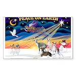 XmasSunrise/4 Ital Greyhounds Sticker (Rectangle 1