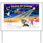 XmasSunrise/4 Ital Greyhounds Yard Sign