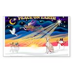 XmasSunrise/Ital Greyhound Sticker (Rectangle 50 p