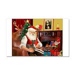 Santa's Ital.Greyt (6) Car Magnet 20 x 12