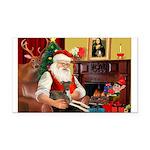 Santa's Ital.Greyt (6) Rectangle Car Magnet